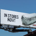 Chipotle silver foil wrapper billboard