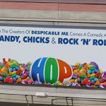 Hop Easter candy billboard