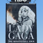 Lady Gaga giant Sunset Strip billboard