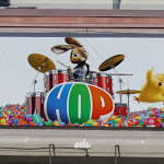 Hop drumming rabbit billboard
