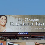 Liz Taylor AIDS Healthcare billboard