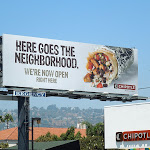 Chipotle neighborhood billboard