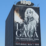 Giant Lady Gaga Monster Ball billboard