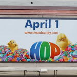 Hop Easter chicks billboard