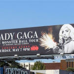 Lady Gaga Monster Ball billboard