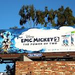 Disney Epic Mickey 2 video game billboard