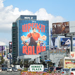 Giant Wreck It Ralph movie billboard Sunset Plaza