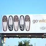 UGG Go Wild animal print slipper billboard