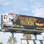 LA Haunted Hayride family portrait billboard
