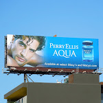 Perry Ellis Aqua Nir Lavi model billboard