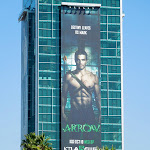 Giant Stephen Amell Arrow billboard Hollywood