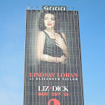Giant Lindsay Lohan Liz and Dick billboard