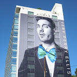 Very Perry Ellis bow tie billboard Sunset Strip
