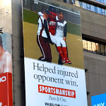 Sportsmanship Values billboard NYC