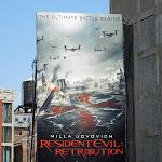 Resident Evil Retribution movie billboard NYC