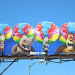 Madagascar 3 wigs billboard