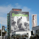 Giant Disney Frankenweenie billboard Sunset Strip