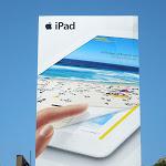 Giant iPad3 billboard Sunset Boulevard