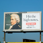Mozart Great Music Values billboard