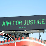 Aim for Justice Arrow teaser billboard