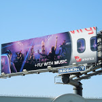 Fly with music Virgin America billboard