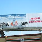 Absolut Greyhound dogs billboard installation