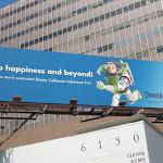 Buzz Lightyear Happiness beyond Disneyland billboard