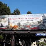 Resident Evil Retribution movie billboard