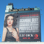 Giant Liz Dick billboard Metropolitan Hotel