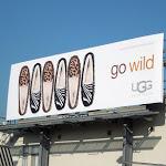 Go Wild UGG Australia animal print slippers billboard