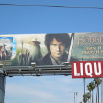 Hobbit Unexpected Journey bluray billboard