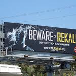 Beware of Rekall Total Recall teaser billboard