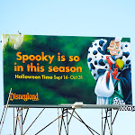 Cruella Disneyland Halloween billboard