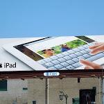 Apple iPad email keyboard billboard