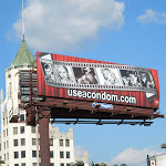 Hollywood screen icons condom AHF billboard