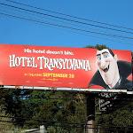 Dracula Hotel Transylvania billboard