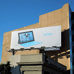 Surface tablet blue kickstand billboard
