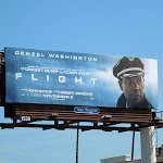 Denzel Washington Flight movie billboard