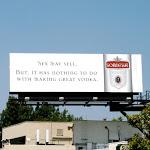 Sex may sell Sobieski Vodka billboard Jul 2009