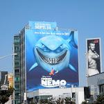 Giant Finding Nemo 3D movie billboard