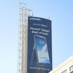 Samsung Galaxy Note II billboard Hollywood