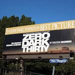 Zero Dark Thirty Oscar Best Picture billboard