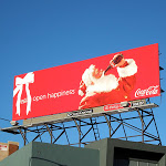 CocaCola Open Happiness Santa billboard 2012