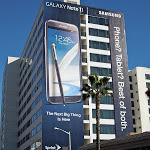 Giant Samsung Galaxy Note 2 billboard Sunset Strip