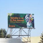 Cruella spooky Disneyland Halloween billboard