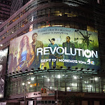 Revolution billboard Times Square night