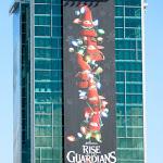 Giant Santa Elves Rise of Guardians billboard