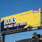 Books make movies Roku billboard