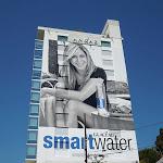 Giant Jennifer Aniston Smart Water billboard