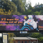 Ursula Disneyland Halloween 2012 billboard